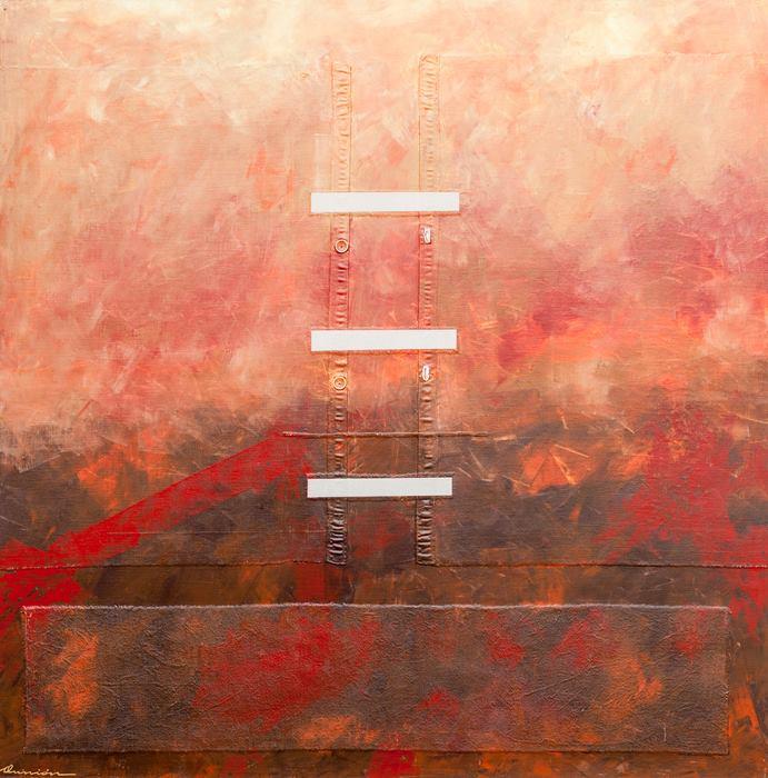 """Aunión """"Viñedos al atardecer"""", 2010."""